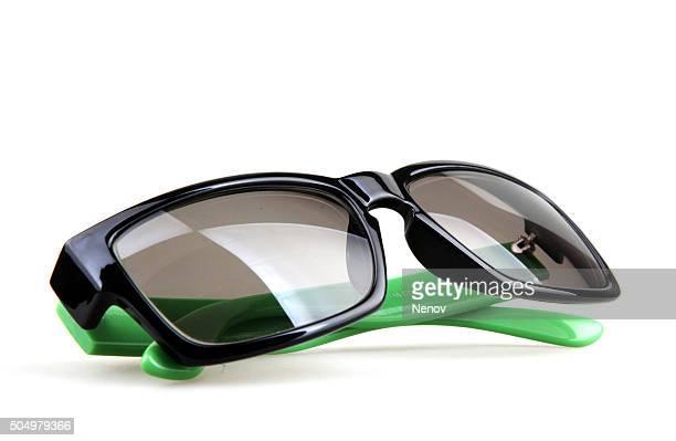 glasses on isolated white background