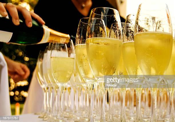 Gläser mit Champagner