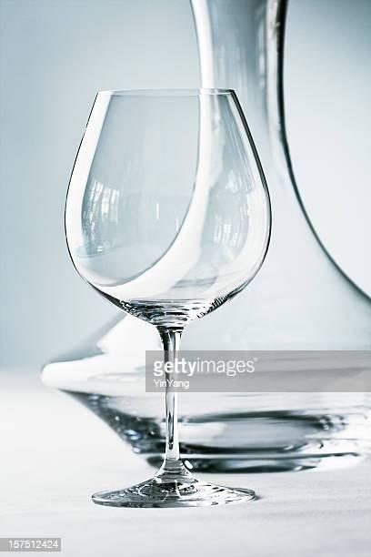 Glassware - Stemware- Wineglass and Decanter Close-up
