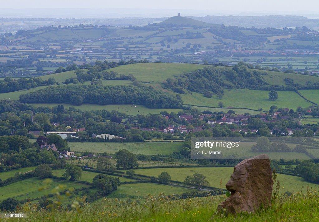 Glastonbury Tor in Somerset : Stock Photo