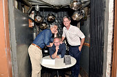 Glauco LolliGhetti David Baker and Justin Martin attend Tom Dixon Celebrates New Store with Howard Street Party at The Shop New York on July 19 2016...