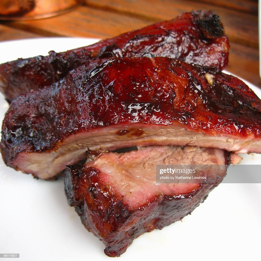 Glazed Barbecued Pork Ribs : Stock Photo