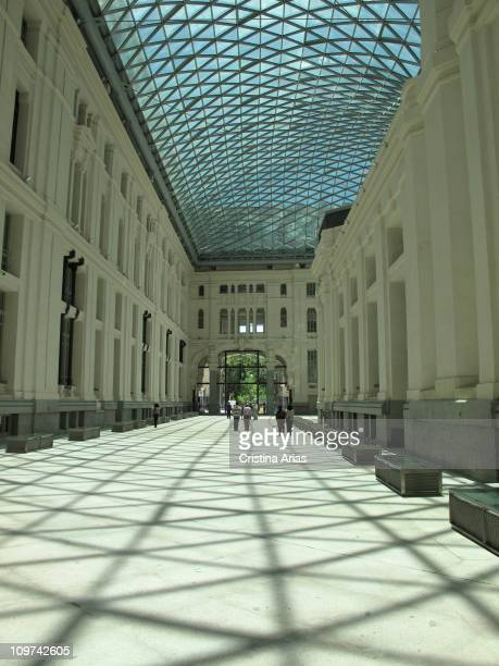 Glazed gallery of the Palace of Communications now Madrid City Hall by Rodriguez Partearroyo architect june 2010