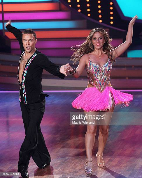 Gülcan Kamps and Nikita Bazev attend the Let's Dance Final at Coloneum on May 31 2013 in Cologne Germany