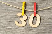 Wäscheklammer, Wäscheleine und der dreißigste Geburtstag