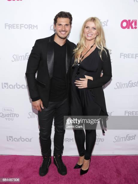 Gleb Savchenko and Elena Samodanova attend OK Magazine's Summer KickOff Party at W Hollywood on May 17 2017 in Hollywood California