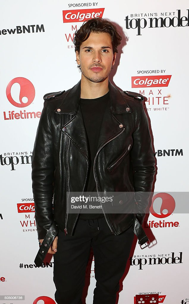 Gleb Savchenko attends Lifetime's launch of Britain's Next Top Model airing tonight at 9pm on Lifetime at Kensington Roof Gardens on January 14, 2016 in London, England.