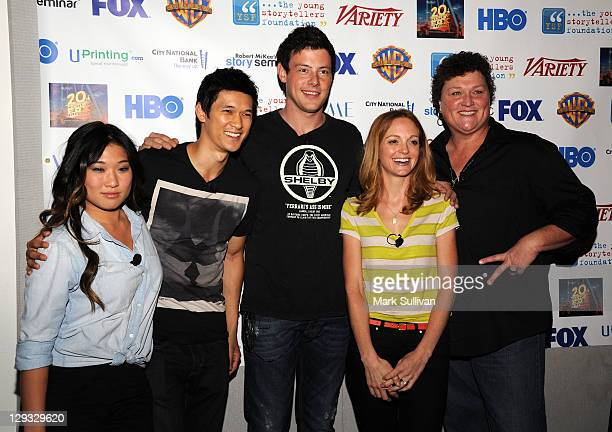 Glee cast members Jenna Ushkowitz Harry Shum Jr Cory Monteith Jayma Mays and Dot Jones attend Young Storytellers Foundation's The Biggest Show 2011...