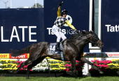 Glen Boss riding So You Think wins the Tatts Cox Plate during the 2009 Cox Plate Day meeting at Moonee Valley Racecourse on October 24 2009 in...