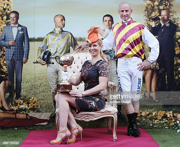 Glen Boss threetime Emirates Melbourne Cup winning jockey and Alison Saville Black Caviar connection and former Myer Fashions on the Field ambassador...
