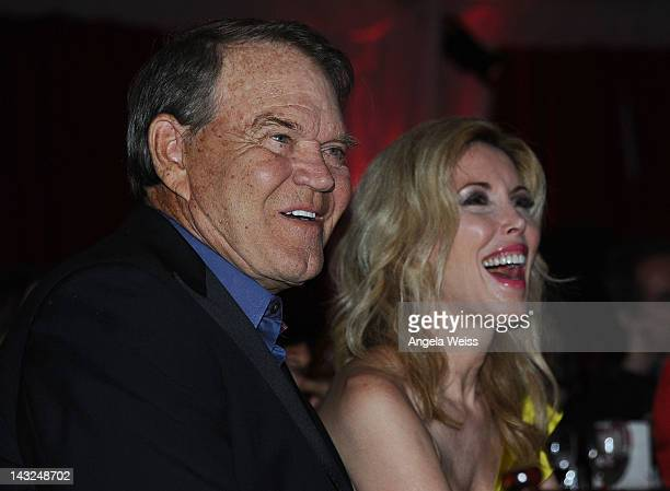 Glen Campbell and Kim Campbell attend Jane Seymour's 2nd annual Open Hearts Foundation Celebration held at a private residency on April 21 2012 in...