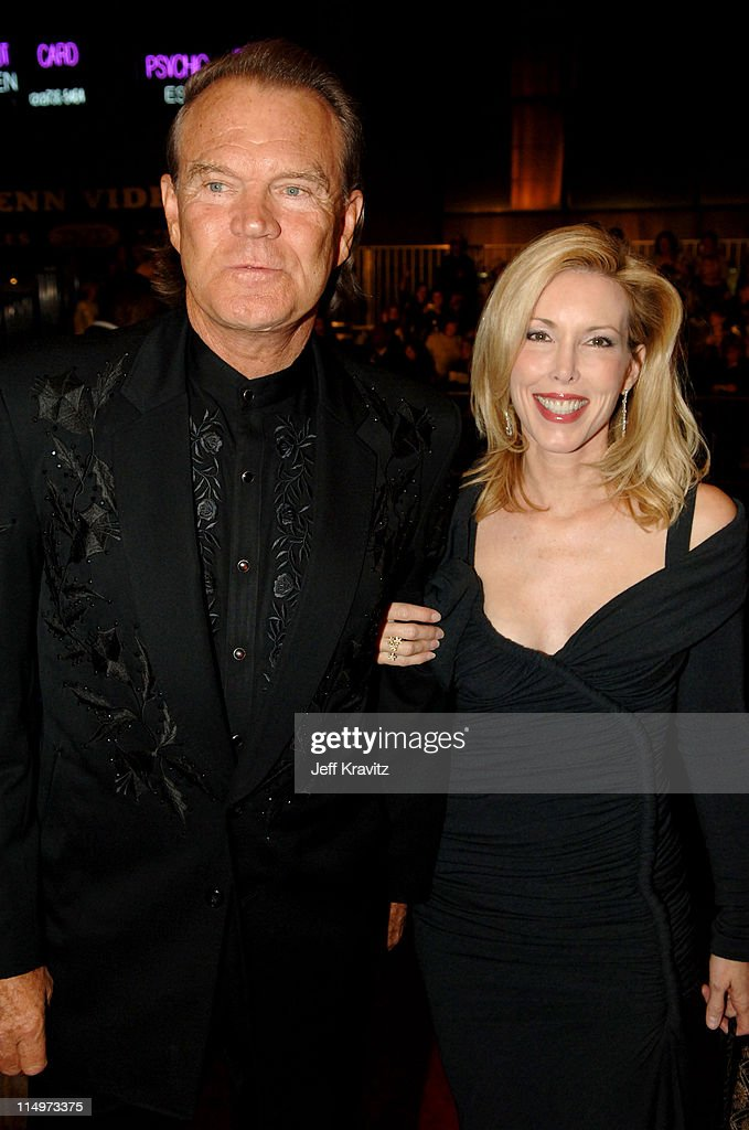 Glen Campbell and wife Kim Campbell during The 39th Annual CMA Awards - Red Carpet at Madison Square Garden in New York City, New York, United States.