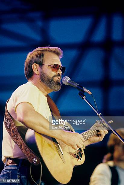 Glen Campbell performing at Farm Aid in Champaign Illinois on September 22 1985