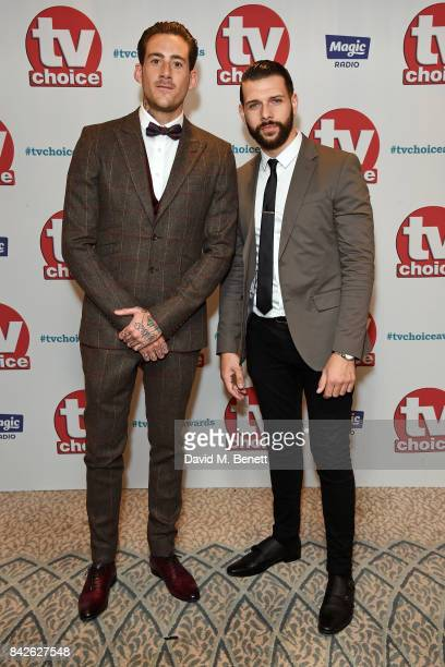 Glen Carloss and Jay Hutton attend the TV Choice Awards at The Dorchester on September 4 2017 in London England