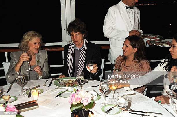 Glen Close Mick Jagger and Dasha Zhukova attend Finch's Quarterly Cannes Dinner 2010 at the Hotel du Cap as part of the 63rd Cannes Film Festival on...