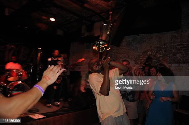 Glen David Andrews performs in the early hours of the morning at 12 Bar in the French Quarter on May 2 2011 in New Orleans Louisiana