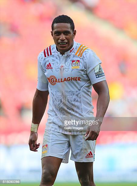 Glen Fisiiahi of the Chiefs looks on during the 2016 Super Rugby match between Southern Kings and Chiefs at Nelson Mandela Bay Stadium on March 12...