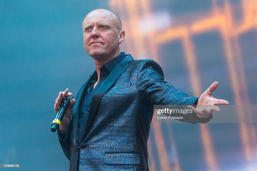 Glen Gregory performs with the British Electric Foundation on day three of Rewind Scotland at Scone Palace on July 24 2016 in Perth Scotland