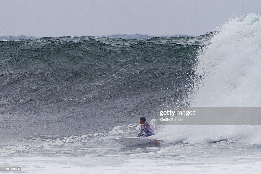 Glen Hall of Ireland surfs during round two on March 31, 2013 in Bells Beach, Australia.