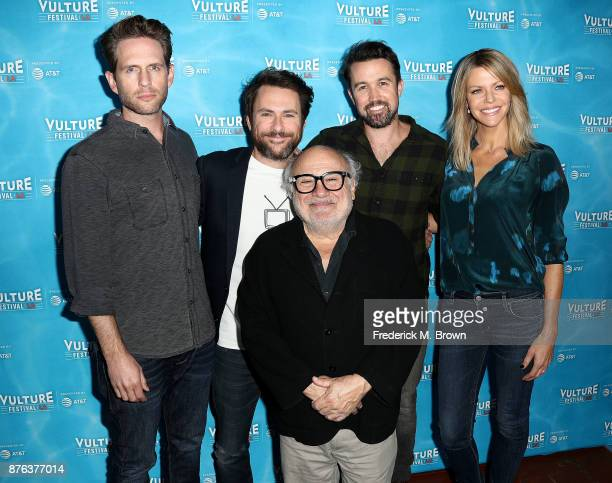 Glen Howerton Charlie Day Danny DeVito Rob McElhenney and Kaitlin Olson attend the Vulture Festival Los Angeles at the Hollywood Roosevelt Hotel on...