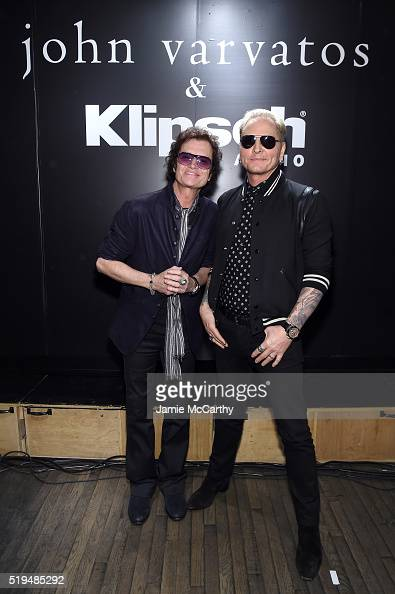 Glen Hughes and Matt Sorum attend an intimate inductee conversation hosted By John Varvatos presented by Klipsch Audio on April 6 2016 in New York...