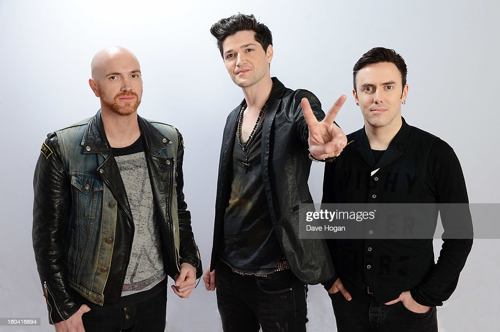Glen Joseph Power, <a gi-track='captionPersonalityLinkClicked' href=/galleries/search?phrase=Danny+O%27Donoghue&family=editorial&specificpeople=5598563 ng-click='$event.stopPropagation()'>Danny O'Donoghue</a> and Mark Sheelan of The Script pose for a portrait on December 8, 2012 in London, England.