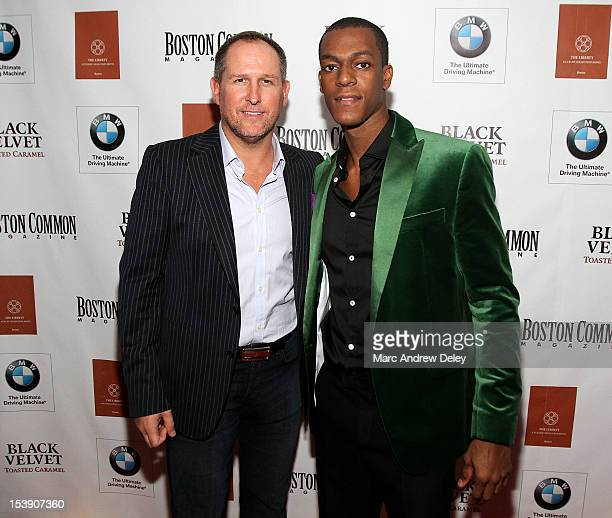 Glen Kelley Boston Common Publisher and Rajon Rondo arrive as Boston Common Magazine Celebrates Boston Celtics Star Rajon Rondo at The Liberty Hotel...