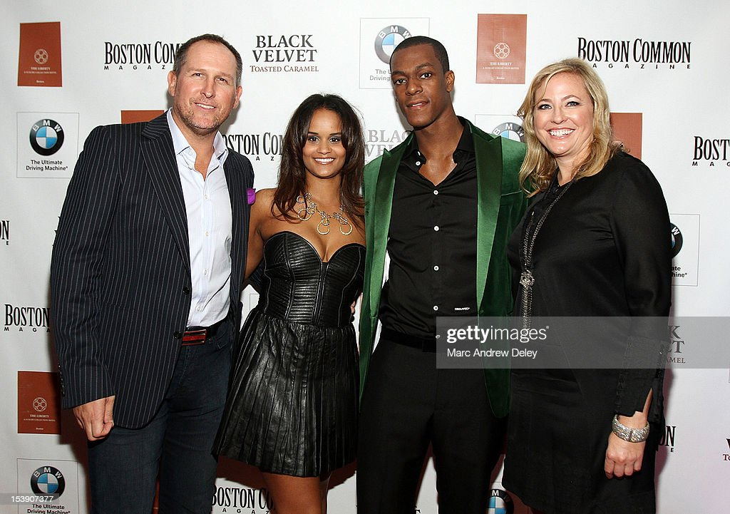 Glen Kelley, Boston Common Publisher, Ashley Bachelor, <a gi-track='captionPersonalityLinkClicked' href=/galleries/search?phrase=Rajon+Rondo&family=editorial&specificpeople=206983 ng-click='$event.stopPropagation()'>Rajon Rondo</a> and Janice O'Leary, Editor-in-Chief of Boston Common arrive as Boston Common Magazine Celebrates Boston Celtics Star <a gi-track='captionPersonalityLinkClicked' href=/galleries/search?phrase=Rajon+Rondo&family=editorial&specificpeople=206983 ng-click='$event.stopPropagation()'>Rajon Rondo</a> at The Liberty Hotel on October 10, 2012 in Boston, Massachusetts.