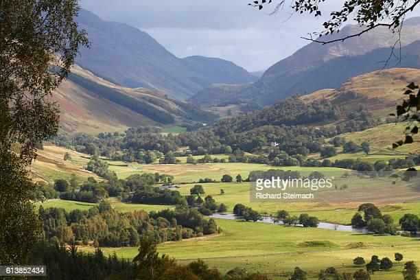 Glen Lyon, Green Sun-lit Fields, Tay Forest, Perthshire