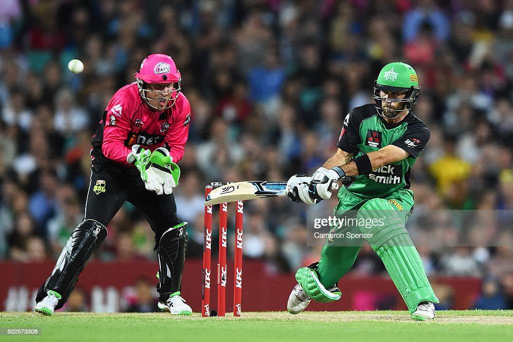 Glen Maxwell of the Stars bats during the Big Bash League match between the Sydney Sixers and the Melbourne Stars at Sydney Cricket Ground on December 27, 2015 in Sydney, Australia.
