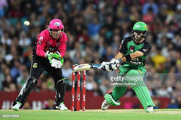 Glen Maxwell of the Stars bats during the Big Bash League match between the Sydney Sixers and the Melbourne Stars at Sydney Cricket Ground on...