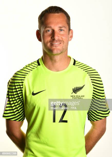 Glen Moss of New Zealand poses for a pictures during the New Zealand team portrait session on June 13 2017 in Saint Petersburg Russia