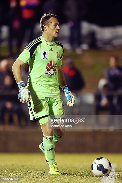 Glen Moss of the Phoenix looks on during the FFA Cup match between Adelaide United and Wellington Phoenix at Marden Sports Complex on August 5 2014...