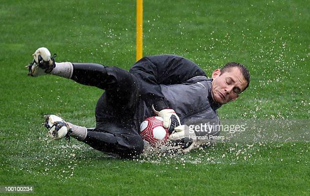 Glen Moss runs through drills during a New Zealand All Whites training session at North Harbour Stadium on May 21 2010 in Auckland New Zealand