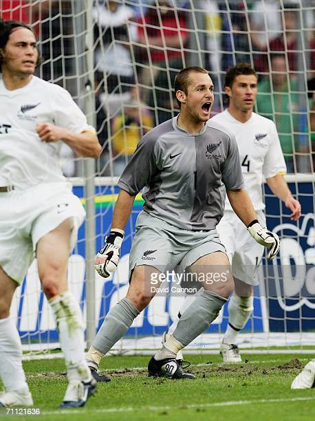 Glen Moss the New Zealand Goalkeeper during his 'Man of the Match' winning performance during the international friendly match between Brazil and New...