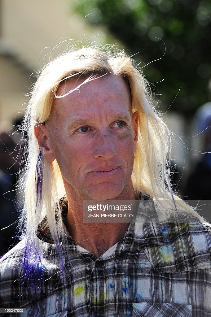 US Glen Plake, one of the survivors of the Himalayan avalanche, attends a memorial ceremony to pay tribute to the victims of the last week avalanche on Nepal's Manaslu mountain, on October 2, 2012, in Chamonix, that is considered the birthplace of European alpinism and the home of most of the French climbers killed. The four French -- two guides and two clients -- were among eight people killed after an avalanche swept through their camp on the side of the 8,156-metre (26,759-foot) Himalayan mountain, just hours before the alpinists were to make an attempt to reach the peak's summit.