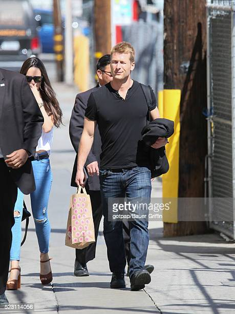 Glen Powell is seen at 'Jimmy Kimmel Live' on April 21 2016 in Los Angeles California