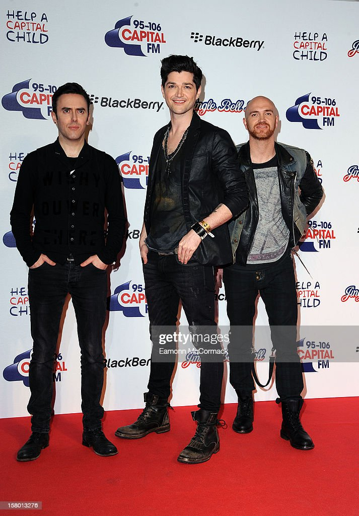 Glen Power, <a gi-track='captionPersonalityLinkClicked' href=/galleries/search?phrase=Danny+O%27Donoghue&family=editorial&specificpeople=5598563 ng-click='$event.stopPropagation()'>Danny O'Donoghue</a> and Mark Sheehan of The Script attend the Capital FM Jingle Bell Ball at 02 Arena on December 8, 2012 in London, England.