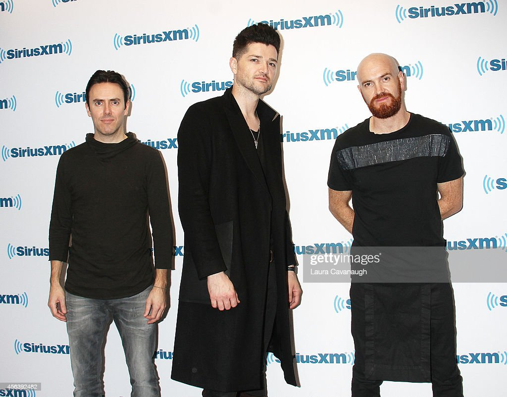 Glen Power, Danny O'Donoghue and Mark Sheehan of The Script visit SiriusXM Studios on September 30, 2014 in New York City.