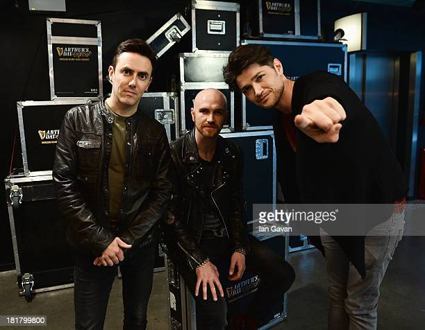 Glen Power Mark Sheehan and Danny O'Donoghue from The Script pose ahead of tomorrow's fifth annual Arthur's Day celebrations on September 25 2013 in...