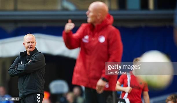 Glen Riddersholm head coach of AGF Aarhus looks on during the Danish Alka Superliga match between FC Copenhagen and AGF Aarhus at Telia Parken...