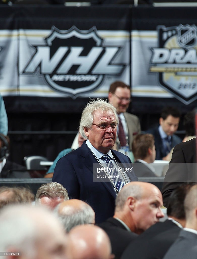 <a gi-track='captionPersonalityLinkClicked' href=/galleries/search?phrase=Glen+Sather&family=editorial&specificpeople=207190 ng-click='$event.stopPropagation()'>Glen Sather</a> of the New York Rangers attends day two of the 2012 NHL Entry Draft at Consol Energy Center on June 23, 2012 in Pittsburgh, Pennsylvania.