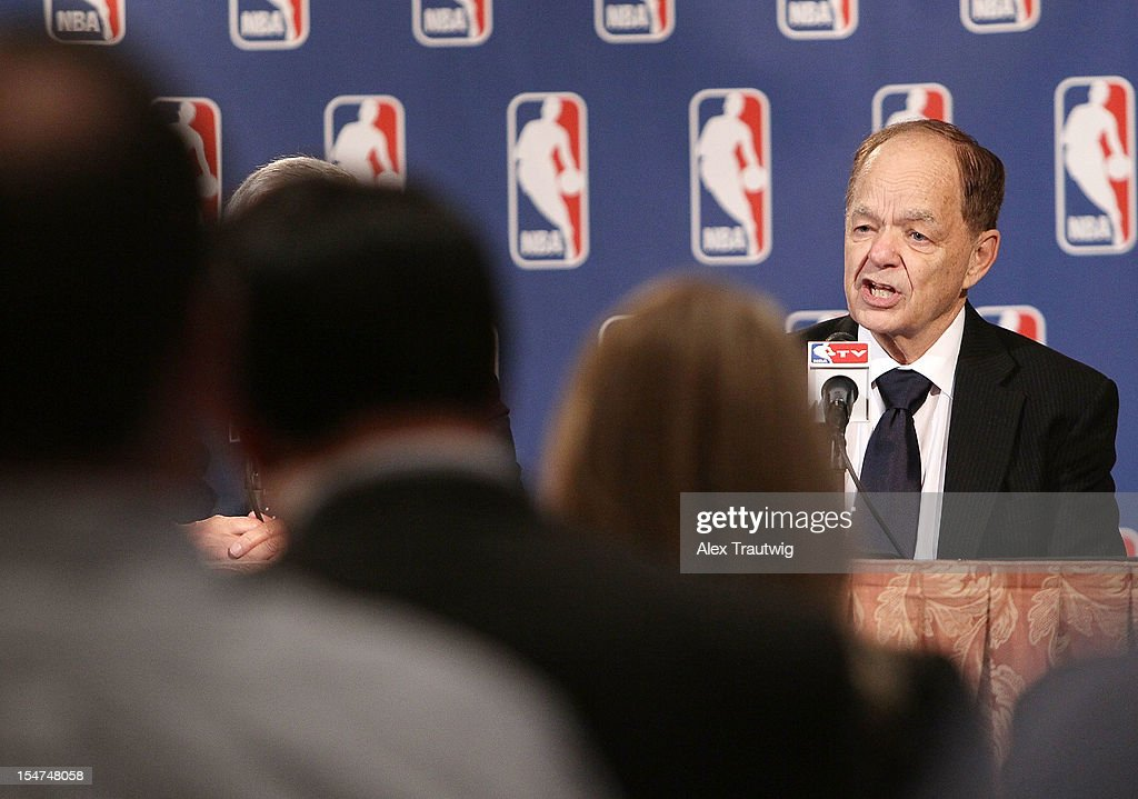 Glen Taylor, owner of the Minnesota Timberwolves, speaks to the media following the NBA Board of Governors Meeting, during which Commissioner David Stern outlined his plans to step down in February 2014 at the St. Regis hotel on October 25, 2012 in New York City.