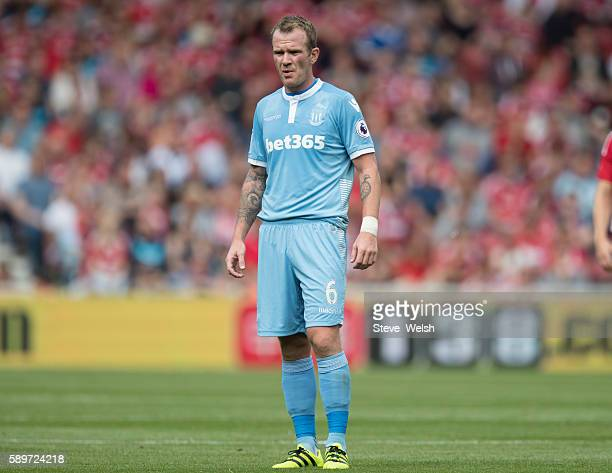 Glen Whelan of Stoke City during the Premier League match between Middlesbrough and Stoke City on August 13 2016 in Middlesbrough