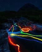 I shot this using glow sticks and a cable release to create the long exposure light trails. Good fun creating this.