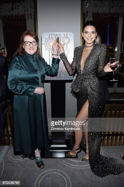 Glenda Bailey and Kendall Jenner attend Harper's BAZAAR 150th Anniversary Event presented with Tiffany Co at The Rainbow Room on April 19 2017 in New...
