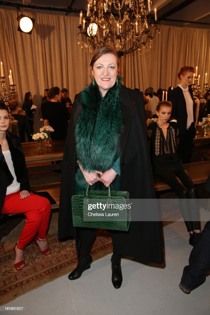 <a gi-track='captionPersonalityLinkClicked' href=/galleries/search?phrase=Glenda+Bailey&family=editorial&specificpeople=213660 ng-click='$event.stopPropagation()'>Glenda Bailey</a> attends the Joie Fall 2013 fashion show presentation during Mercedes-Benz Fashion Week at Center 548 on February 13, 2013 in New York City.