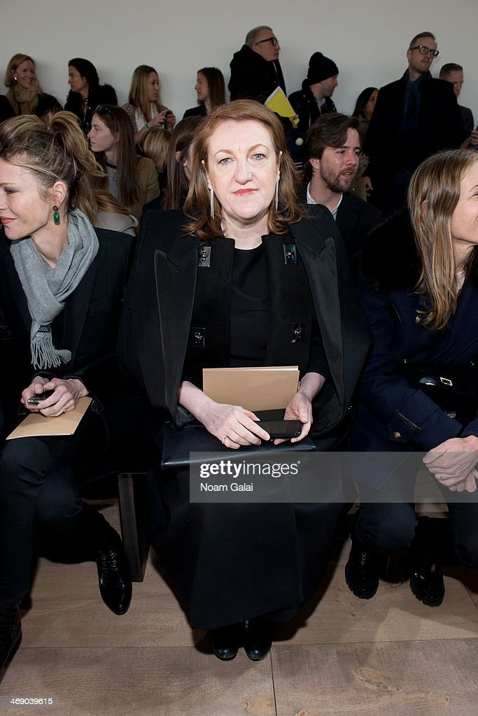 Glenda Bailey attends the Michael Kors Show during Mercedes-Benz Fashion Week Fall 2014 at Spring Studios on February 12, 2014 in New York City.