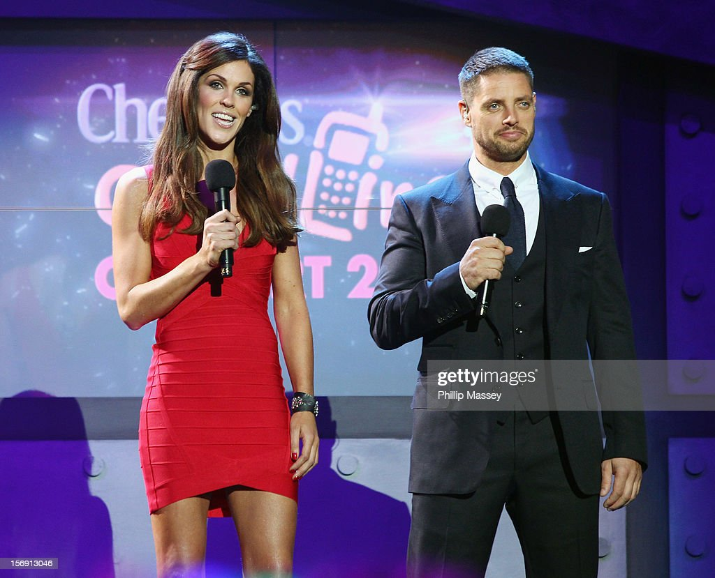 Glenda Gilson and <a gi-track='captionPersonalityLinkClicked' href=/galleries/search?phrase=Keith+Duffy&family=editorial&specificpeople=214201 ng-click='$event.stopPropagation()'>Keith Duffy</a> present the Cheerios Childline concert at 02 on November 24, 2012 in Dublin, Ireland.