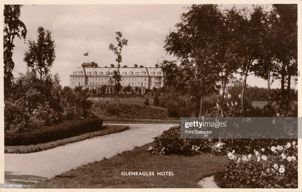Gleneagles Hotel' circa 1925 Gleneagles Hotel Perth Scotland The hotel opened in 1924 built by the former Caledonian Railway Company and retains its...